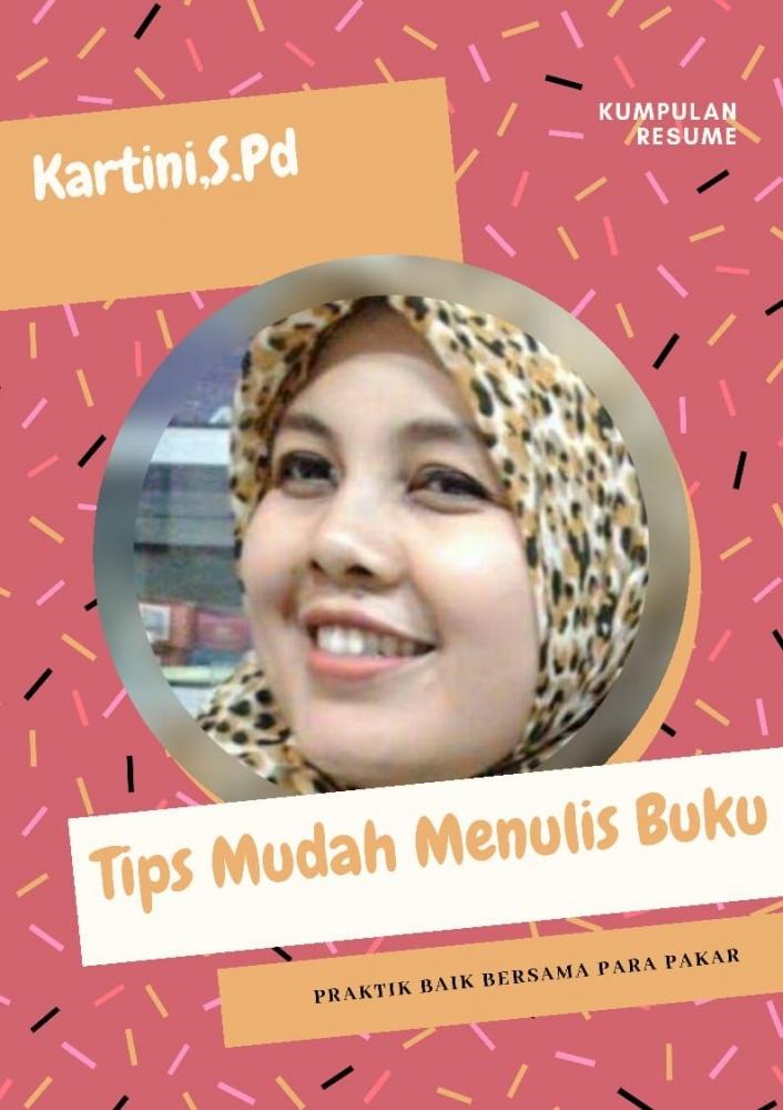 buku tips mudah menulis buku karya ibu Kartini | dokpri