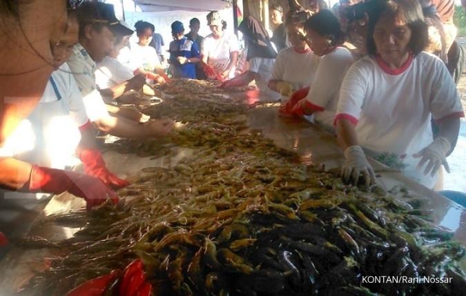Pemerintah memasang target kenaikan ekspor udang sampai 5 tahun ke depan| Sumber: KONTAN/Rani Nossar