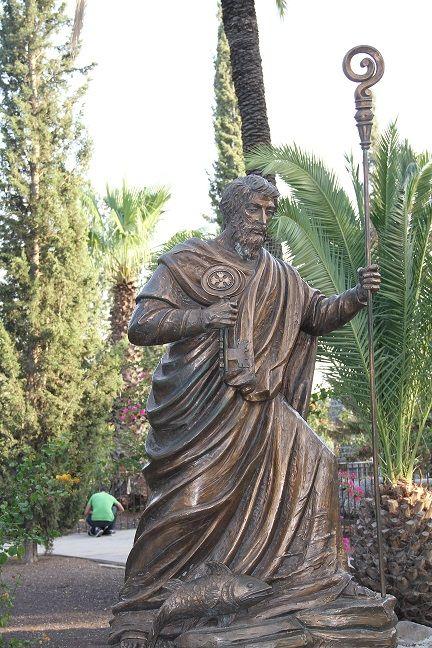 Patung St Petrus di rumah St Petrus (dok pri)