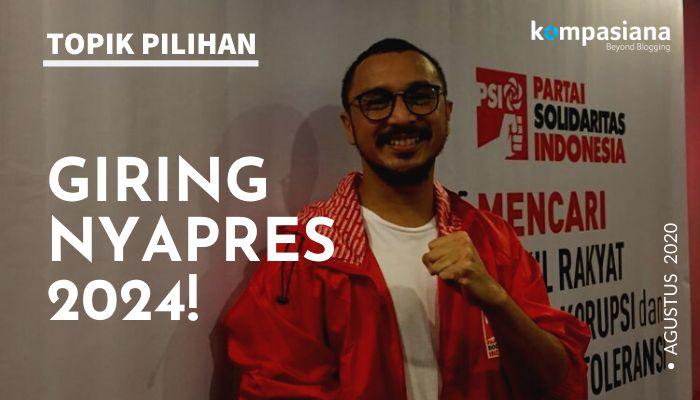 Giring Ganesha maju sebagai calon Presiden 2024 dari Partai Solidaritas Indonesia (PSI). (Ilustrasi foto diolah dari: KOMPAS.com/TRI SUSANTO SETIAWAN)