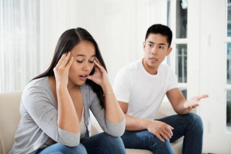 Ilustrasi konflik dengan pasangan (Sumber: www.dreamstime.com)