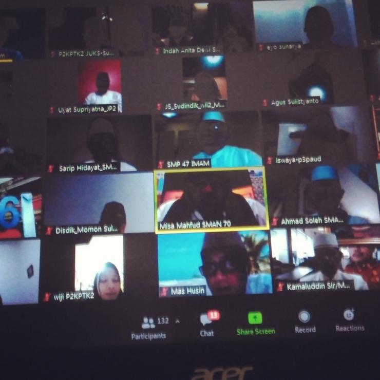 Tahlil Virtual (Dok Pribadi Sudiono)