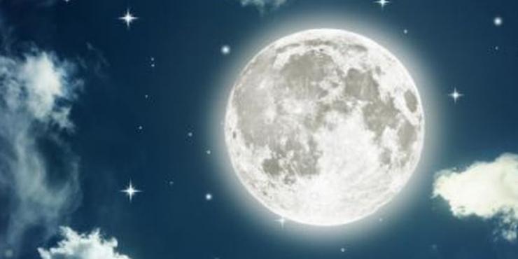 Ilustrasi bulan purnama.(Thinkstockphotos via KOMPAS.COM)