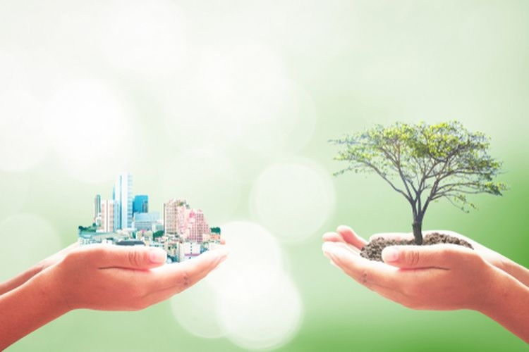 Ilustrasi pembangunan dan kelestarian lingkungan. (shutterstock.com via kompas.com)