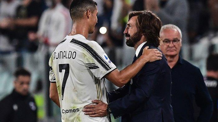 Pirlo dan Ronaldo   Sumber: tribunnews.com