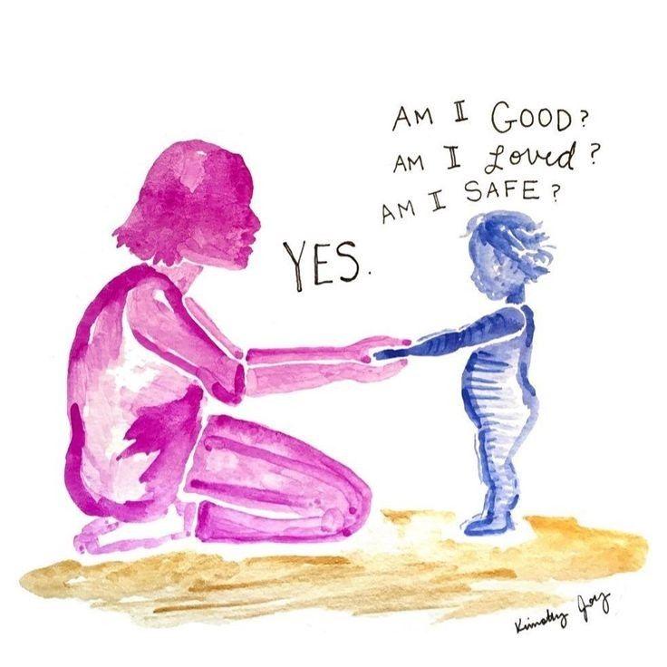 Ilustrasi si kecil bersama sang ibu | Sumber: estevan.ca