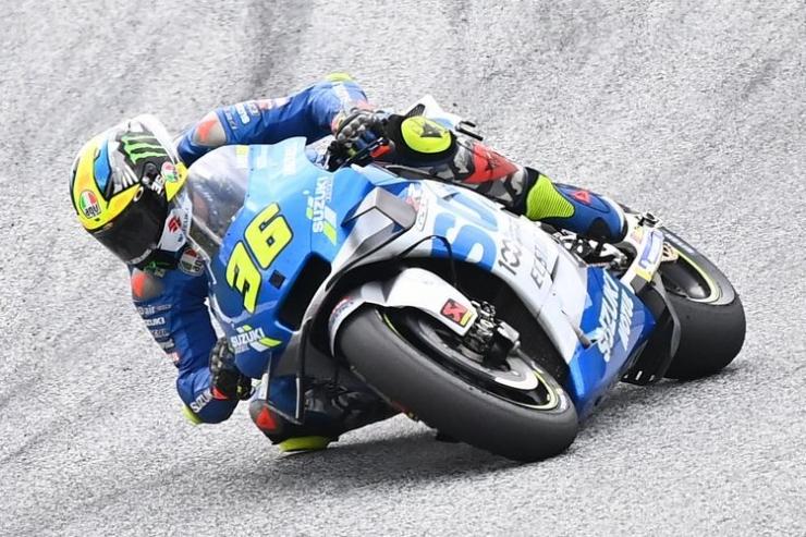 Joan Mir saat berlaga di MotoGP Styria. (Foto oleh Joe Klamar / AFP) (JOE KLAMAR) via kompas.com