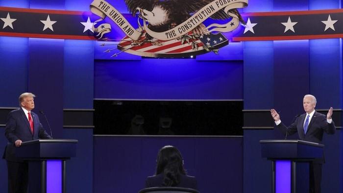 Debat final capres AS pada Jumat, 23 Oktober 2020  via detik.com