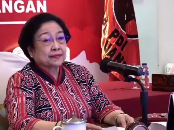 Megawati Soekarnoputri sebut generasi milenial hanya bisa demo. /Tangkapan layar channel Youtube PDI Perjuangan   Dokumen via Pikiran rakyat.com