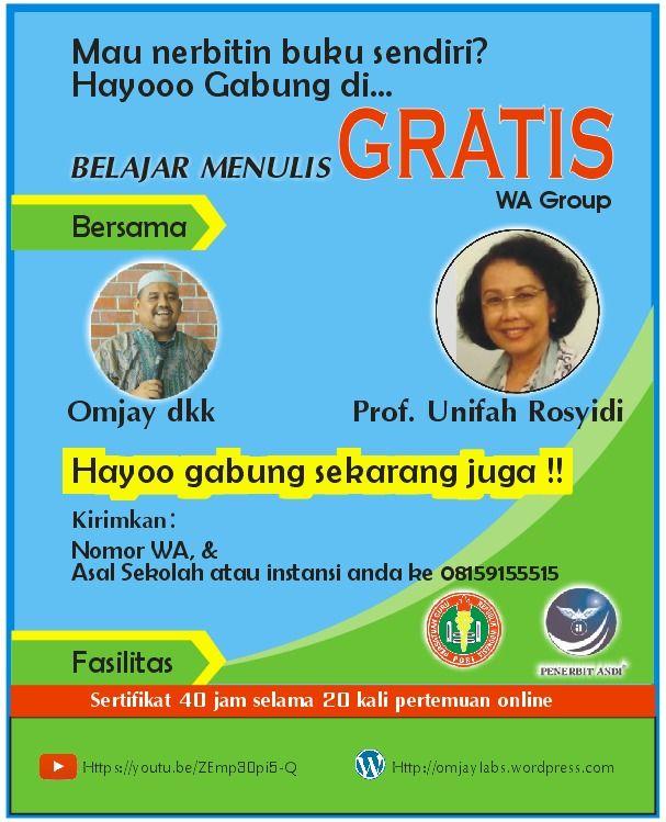 belajar menulis gratis PGRI (Dokpri)