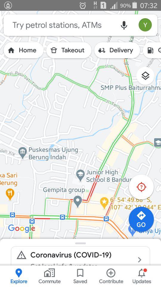 DOk. pribadi, hasil screenshot Google Maps
