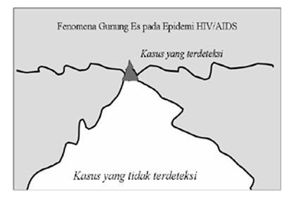 Fenomena gunung es pada epidemi HIV/AIDS (Dok/Syaiful W. Haraha).