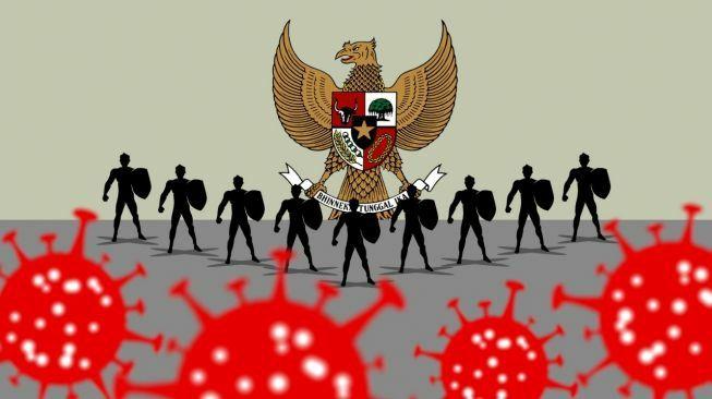 Ilustrasi Pancasila di Tengah Pandemi (Sumber: agilnanggala via suara.com)