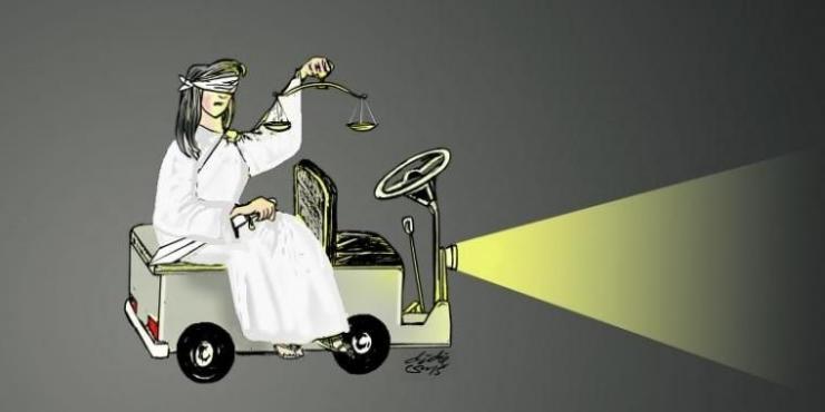 ilustrasi mencari keadilan HAM. (sumber: KOMPAS/DIDIE SW)