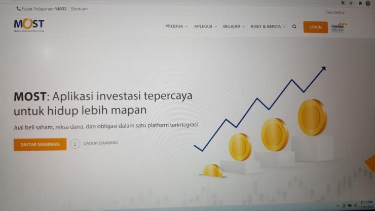Menabung saham lewat sekuritas utama untuk keamanan dan proteksi negara (dokpri)