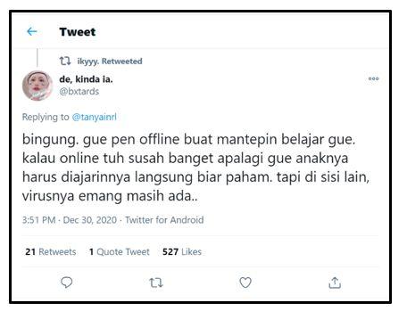tangkap layar pribadi dari twitter