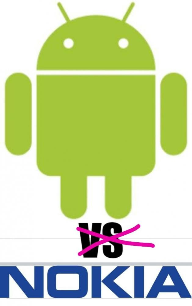 Foto : Nokia dan Android ( Sumber : 1000logos-symbols.com)