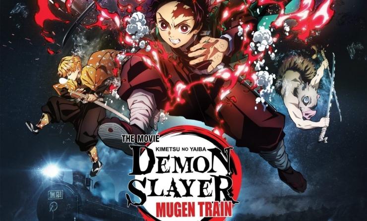 Poster anime Demon Slayer : Kimetsu no Yaiba the Movie : Mugen Train. Sumber : Kompas.com
