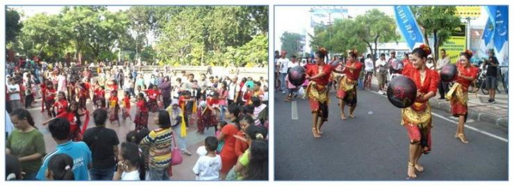 Car Free Day (CFD) jadi sarana budaya (Foto: Hendra Setiawan)