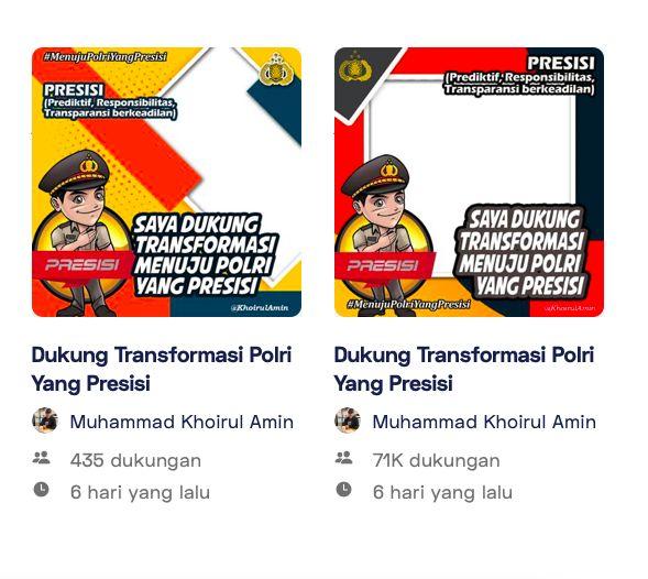 indicator pada Twibbonize digunakan sebanyak 71K warga indonesia