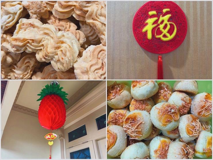 Sagu keju, ornamen Fu(福), ornamen nanas dan nastar keju | Foto milik pribadi