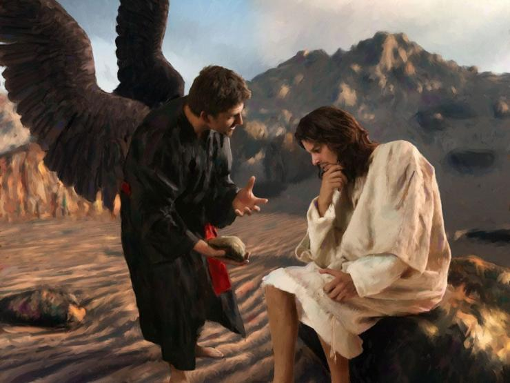 Yesus dicobai iblis di padang gurun. Foto: catatanseorangofs.wordpress.com.