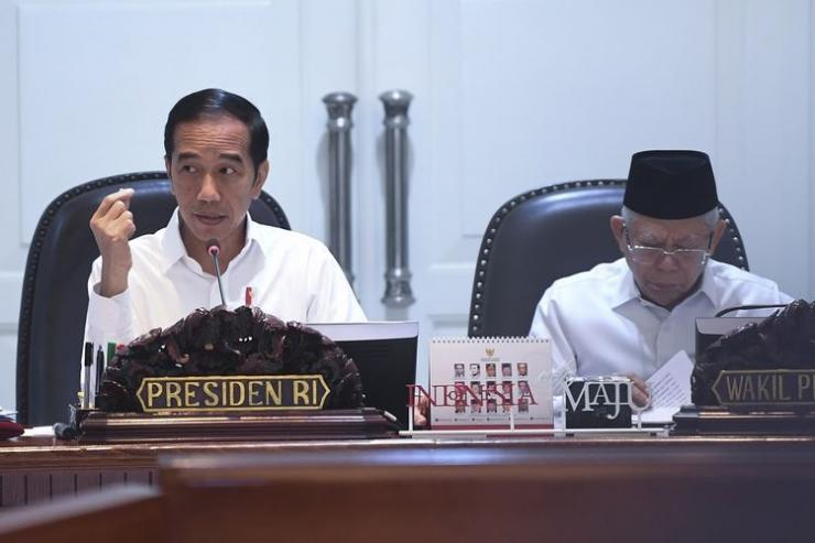 Presiden Joko Widodo dan Wapres Ma'aruf Amin. Foto: kompas.com.
