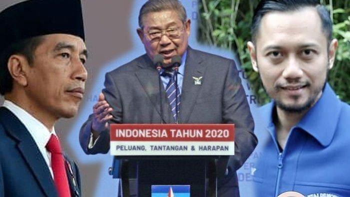 Presiden Joko Widodo-SBY dan AHY (Kolase Tribun Jabar (Instagram/jokowi/agusyudhoyono dan demokrat.or.id)