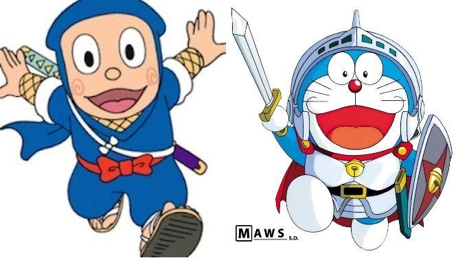 Iluustrasi Ninja Hatorri dan Doraemon (sumber: gambaroz.blogspot.com)