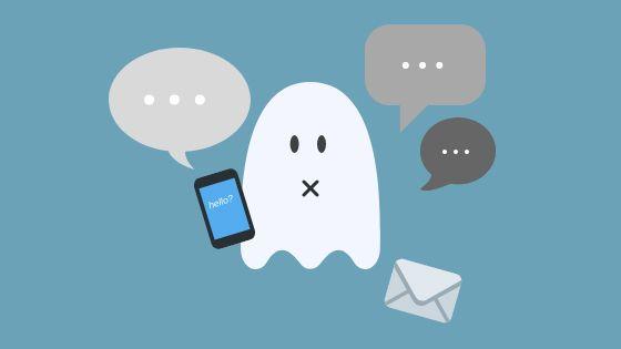 Ghosting (sumber: idntimes.com)