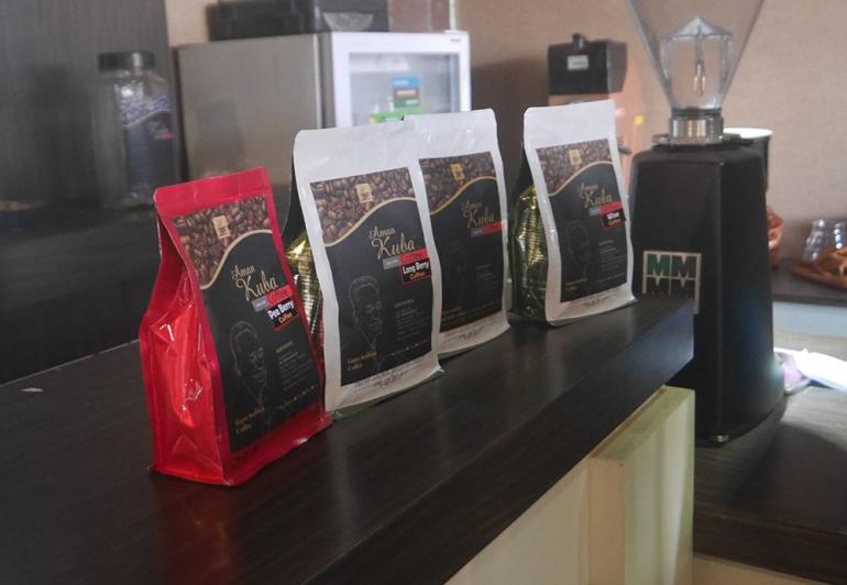 Hasil akhir olahan kopi di pabrik H Aman Kuba (foto pribadi)