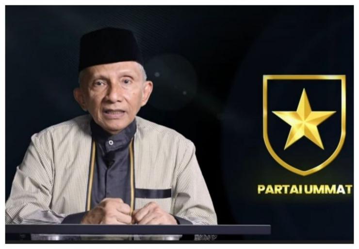 Pendiri Partai Ummat, Amien Rais. Foto:Kompas.com