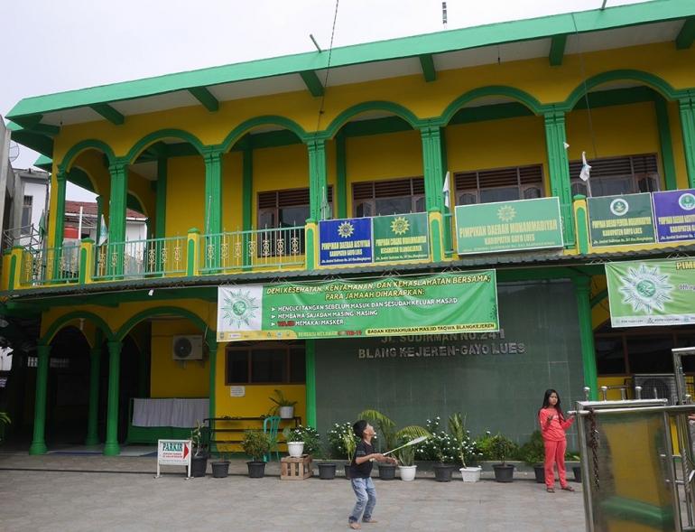 Masjid Taqwa Blangkejeren, tempat pertama yang dituju di Blangkejeren (foto pribadi)