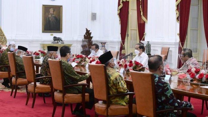 Pertemuan Amien Rais dkk dengan Presiden Jokowi, di Istana Negara, Selasa, 9/3/2021 (Muchlis Jr/Biro Pers Sekretariat Presiden)