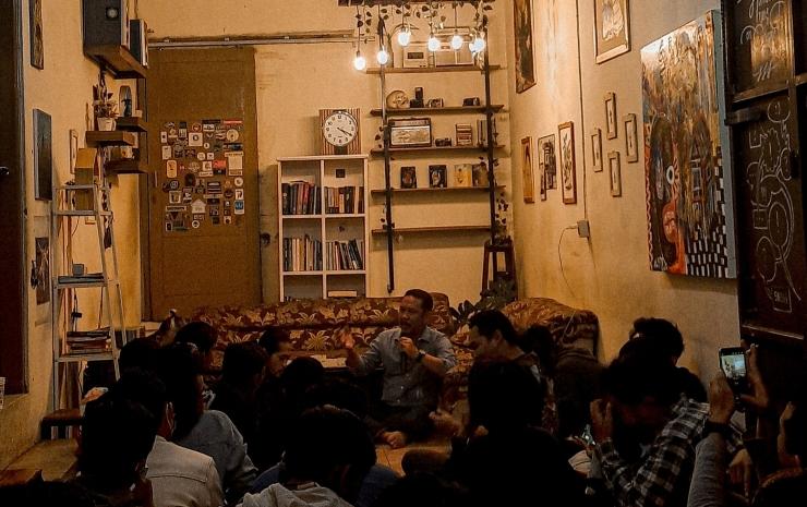 Kegiatan Diskusi para penggiat kopi di Garut. Foto : Sahrul Imam