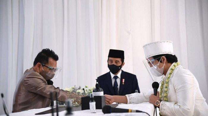 Jokowi menjadi saksi pernikahan Atta-Aurel (Foto: Biro Setpres).