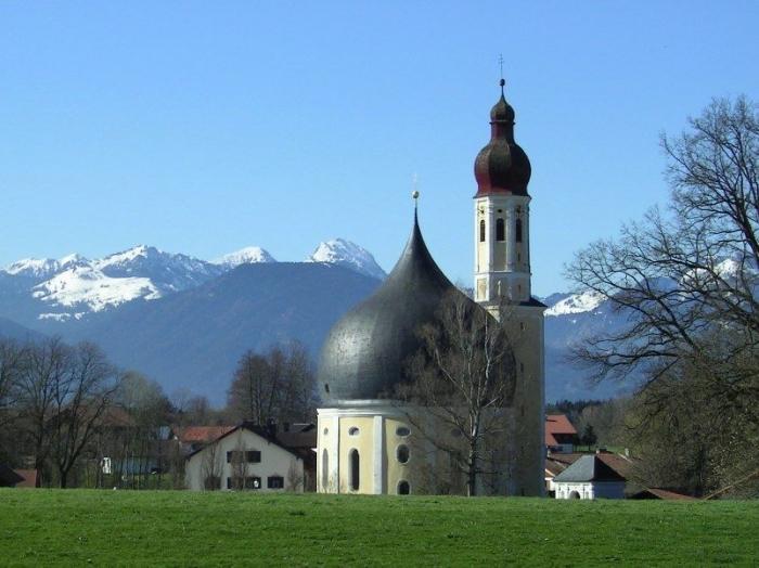 Kubah gereja St Johann Baptist und Heilig Kreuz di Westerndorf Jerman | foto: commons.wikimedia.org/GerhardPiezinger