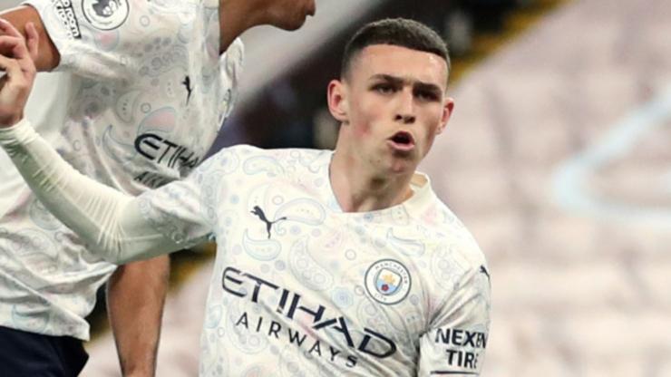 Phil Foden, bintang muda Manchester City bermain cemerlang dalam laga melawan Villa dengan kemenangan 2-1 (Foto Skysports)