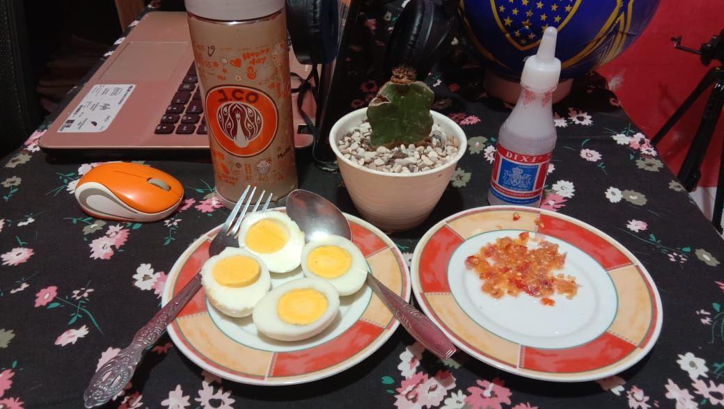 Menu Buka Puasa Anti Mainstream: Telur Rebus Sambal Cuka (Dokpri @AMS99)