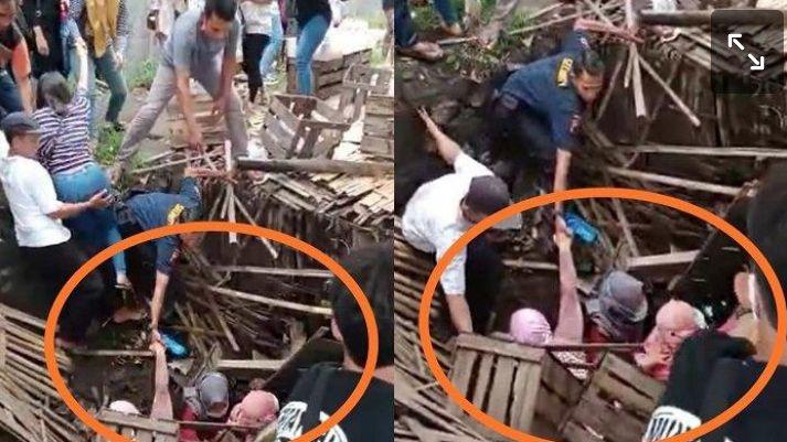 Ilutrasi emak emak warunh ambrol karanganyar (Tiribun news. Come/solo/istimewa)