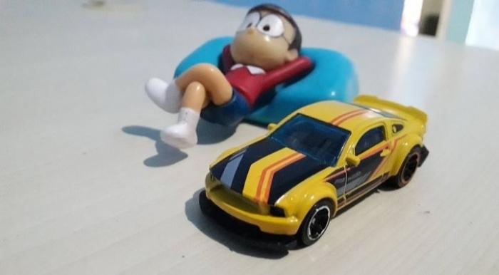 Ada beberapa skala dalam miniatur mobil (dokpri)