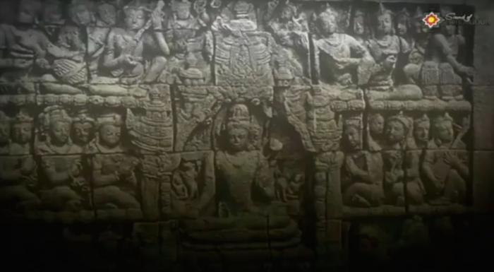Relief di Candi Borobudur menampilkan kegiatan bermusik masa lampau   screenshot www.youtube.com/watch?v=0BFIV5yLQS8