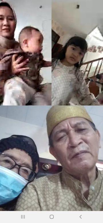 Video Call anak cucu yang di Yogya dan Makassar (dok. Pribadi)