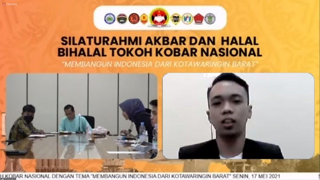 Ketua HIMA Kobar Palangka Raya, Muhammad Taufikurahman saat menyampaikan harapannya dalam Silaturahmi Akbar dan Halam Bihalal Tokoh Kobar Nasional - Dokpri