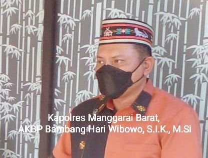 Kapolres Manggarai barat, AKBP Bambang Hari Wibowo, S.I.K, M.Si, Foto : Jon Kadis,SH/Sekjen KLC