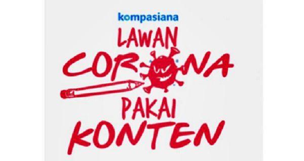 Logo Lawan Corona Pakai Konten. SS Web Kompasiana