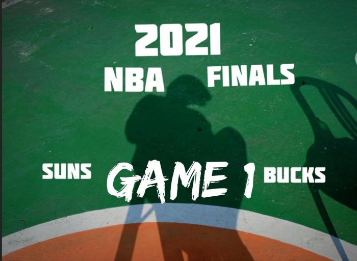 NBA Finals 2021: Phoenix Suns vs Milwaukee Bucks. (Ilustrasi Pribadi)