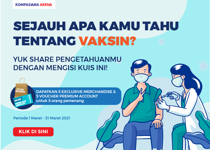 Kuis ini berhadiah exclusive merchandise & voucher premium account