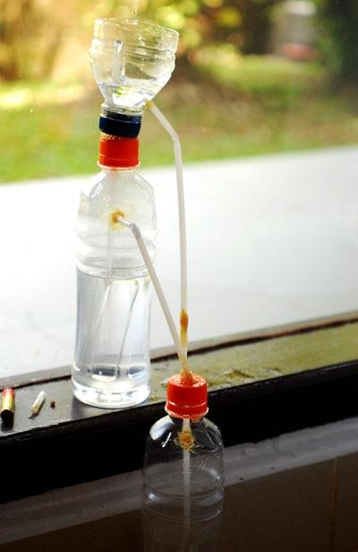 Membuat Air Mancur Tanpa Pompa Listrik