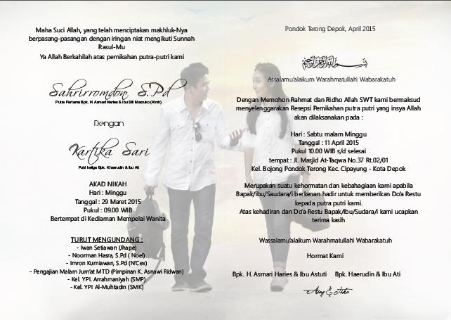 Cara Membuat Undangan Pernikahan Simple Elegan Oleh Aing Lee